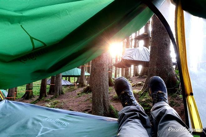 Übernachtung im Tree Tent