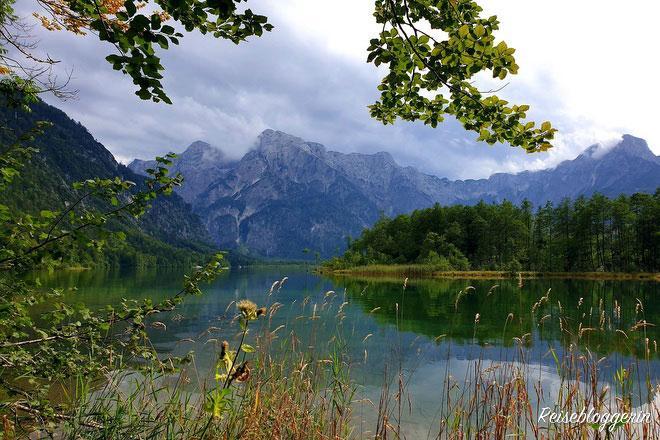 Der Almsee in Oberösterreich - Campen mit dem Wohnmobil ist nicht erlaubt