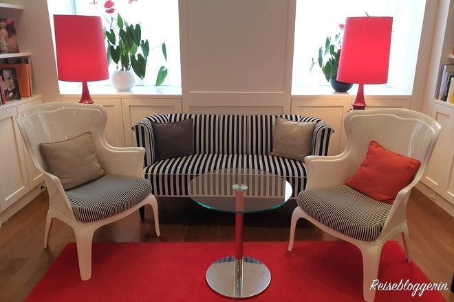 Lounge im Hotel Harmonie