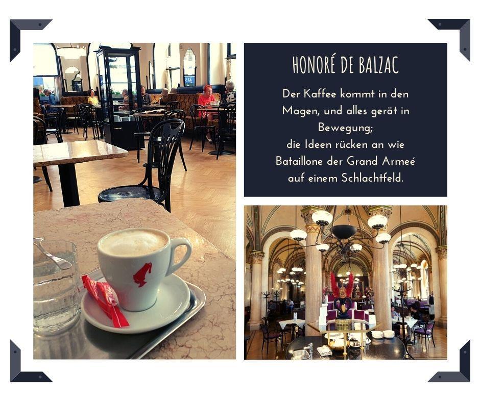 Kaffee Zitat von Honore de Balzac
