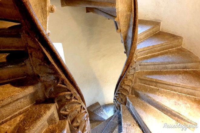 Die gotische Wendeltreppe in Graz