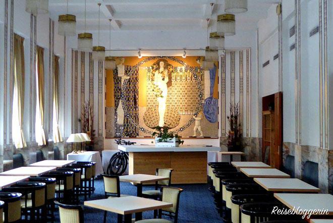Das Jugendstilmosaik im Grand Hotel Wiesler