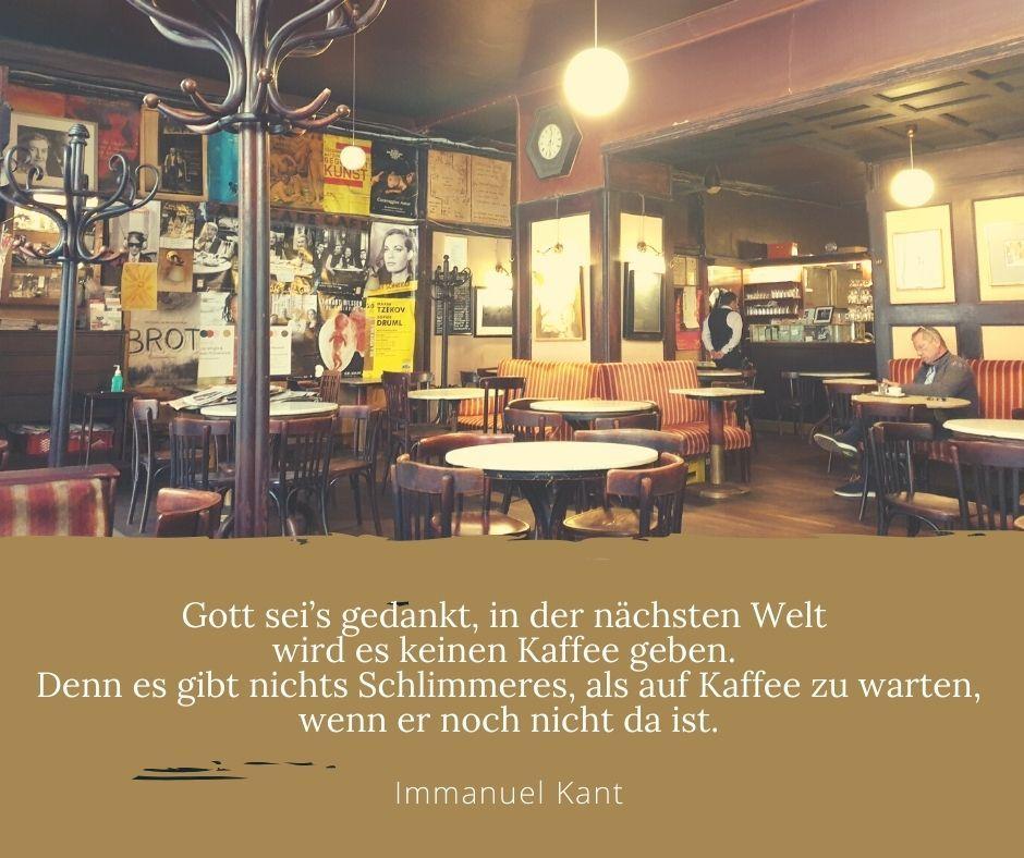 Kaffee Zitat von Immanuel Kant