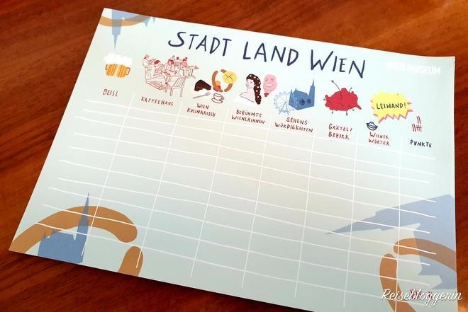 Stadt Land Wien - Spielbögen