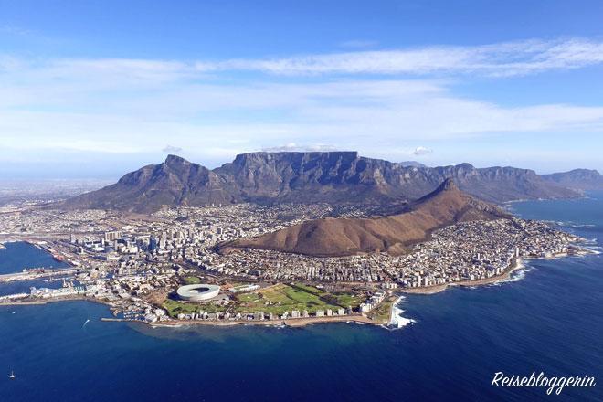 Kapstadt vom Helikopter aus gesehen - Mein Jahr in Bildern