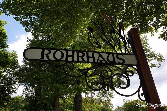 Schild mit der Aufschrift Rohrhaus