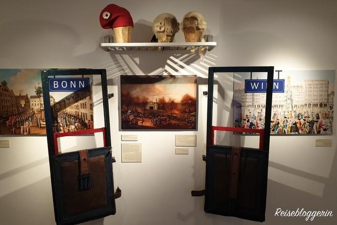 Ausstellungsstücke im Beethoven Museum