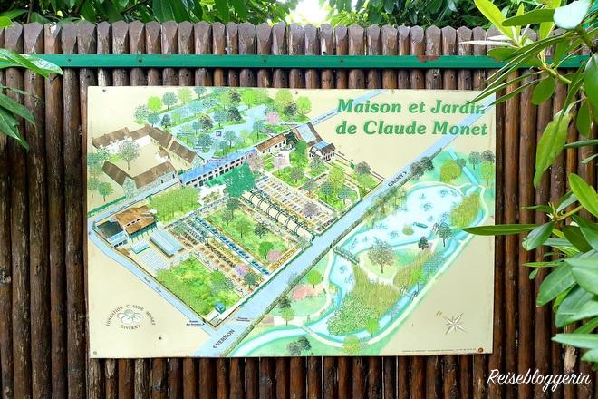 Gartenplan in Giverny