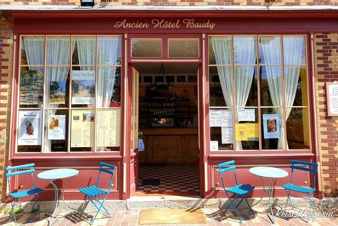 Eingangstür zum Hotel Baudy in Giverny