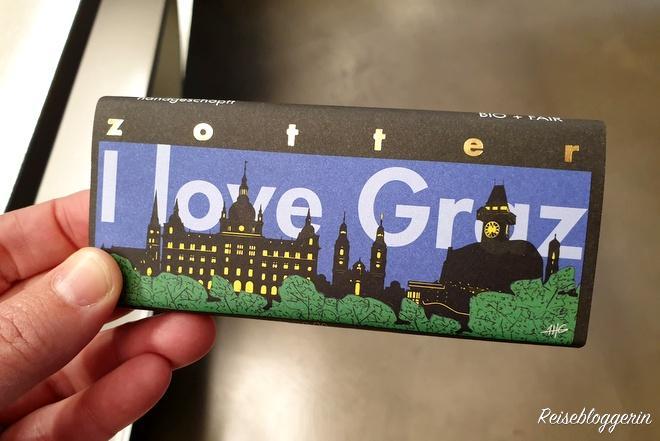 I love Graz Schokolade von Zotter