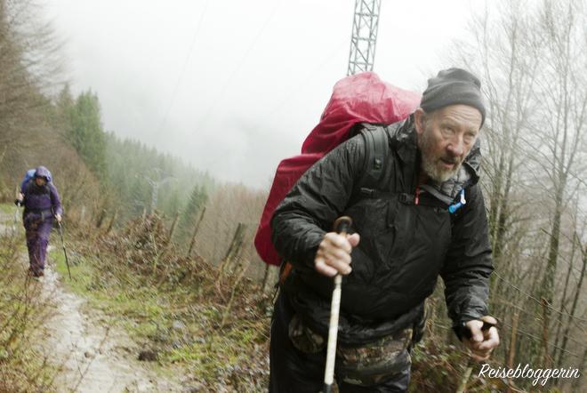Eine anstrengende Etappe am Jakobsweg - Copyright Foto Lunafilm