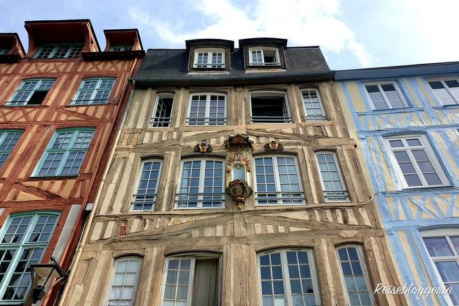 Eines von vielen Fachwerkhäusern in Rouen
