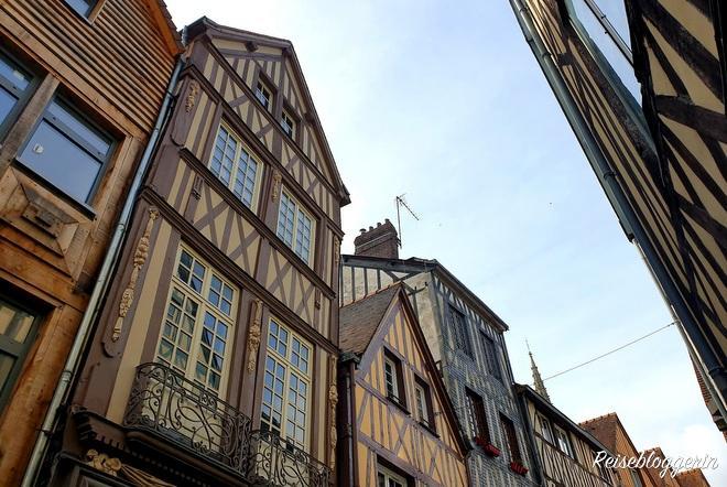 Häuserzeile in Rouen