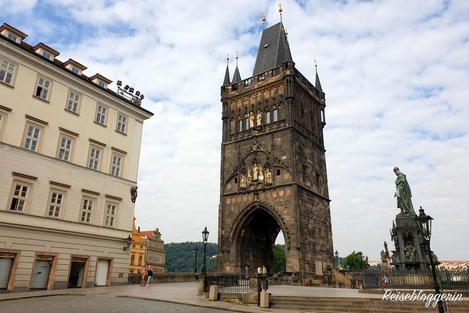 Der Altstädter Brückenturm in Prag