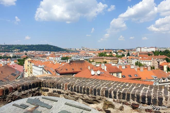 Ausblick von Vyšehrad auf Prag