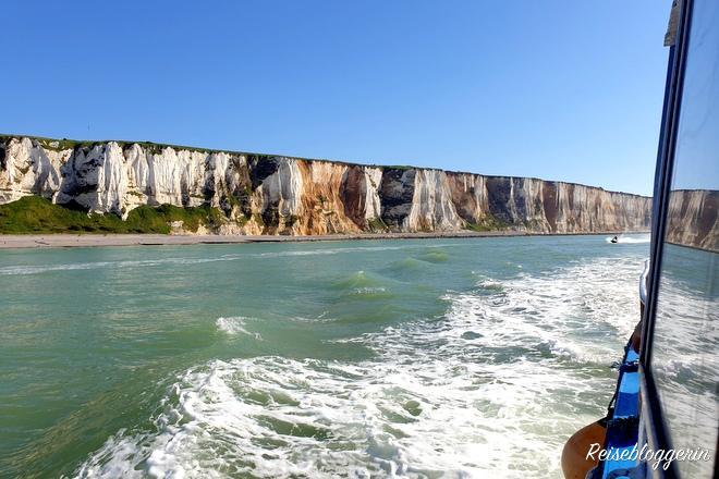 Blick vom Boot auf die Kreidefelsen