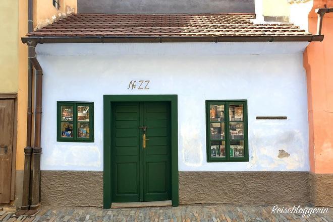 Das Haus im goldenen Gässchen in Prag, wo Franz Kafka an seinen Werken geschrieben hat