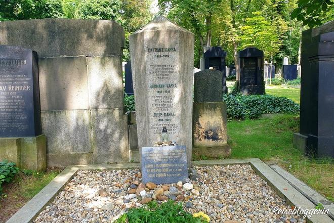 Grabstein von Franz Kafka in Prag