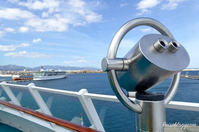 Reeling von einem Kreuzfahrtschiff