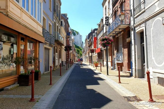 Schmale Gasse in Le Treport