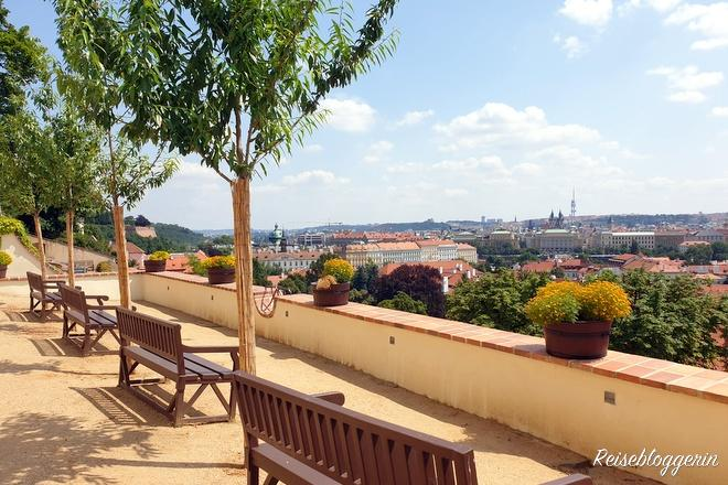 Palastgärten in Prag an der Südseite