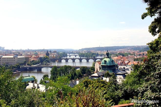 Prager Brücken vom Hanau Pavillon aus gesehen
