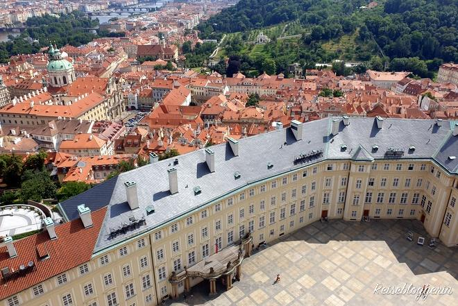 Blick auf die Prager Burg von oben