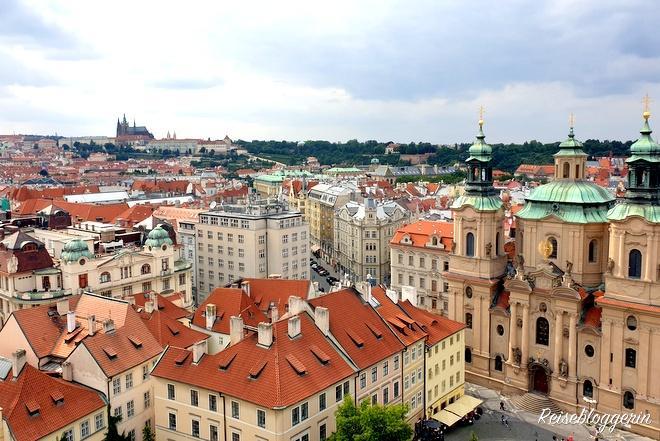 Blick vom Rathaus zur Prager Burg