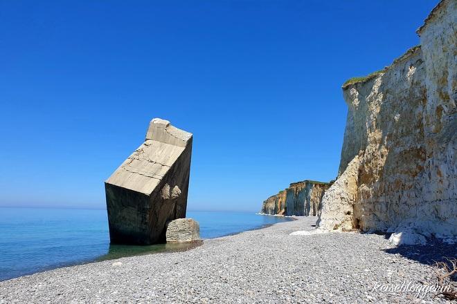 Der Bunker am Strand von Sainte-Marguerite-sur-mer