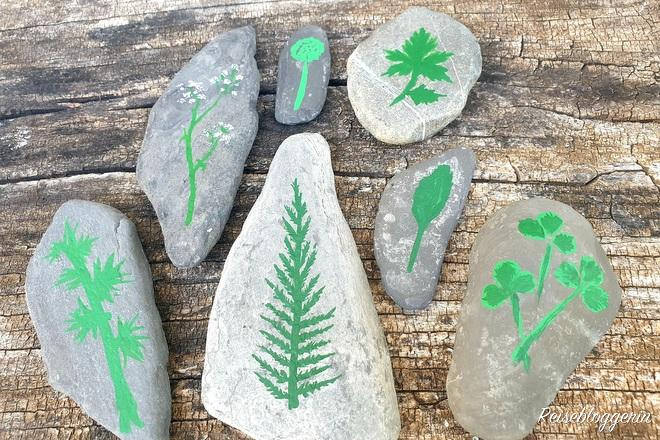 7 bemalte Steine