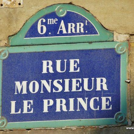 Rue Monseieur le Prince